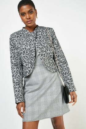 Mix Printed Blazer And Dress Co-Ords