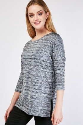 Round Neck Speckled Top