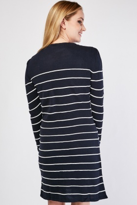 Striped Panel Knit Dress