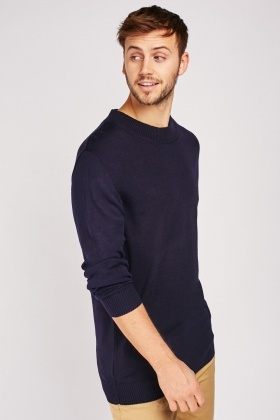 Ribbed Contrast Knit Jumper