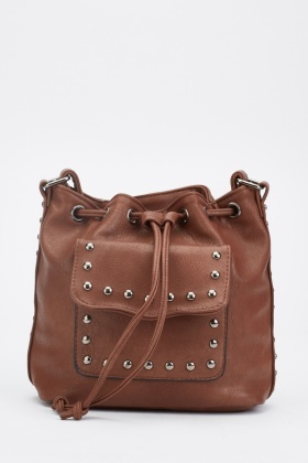Drawstring Top Studded Bag