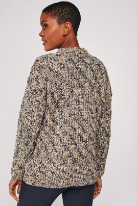 Loose Knit Speckled Mix Jumper