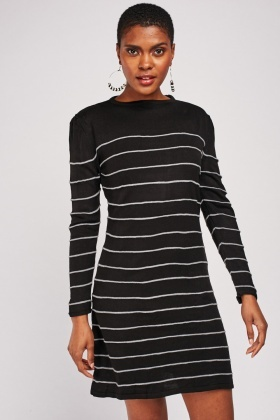 Mini Striped Knit Dress