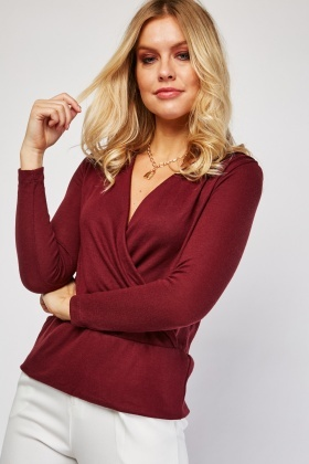 Wine Wrap Top