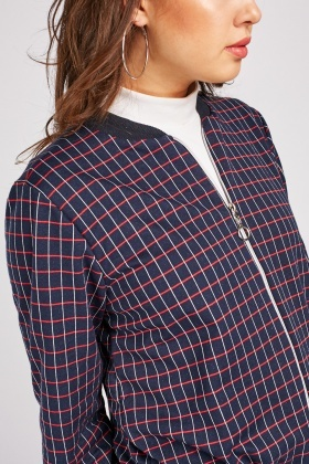 Baseball Ribbed Collar Light Jacket