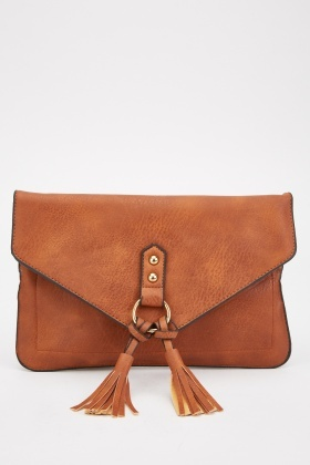 O-Ring Tassel Front Envelope Bag