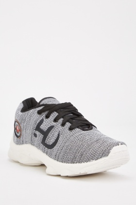 Two Tone Low Top Trainers