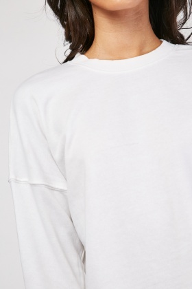 Basic Raw Edge Sweatshirt