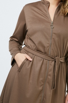 O-Ring Zip Up Front Dress
