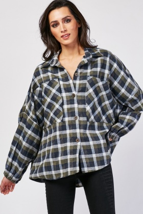Slouchy Checkered Overshirt