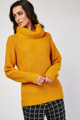 Slouchy Roll Neck Jumper