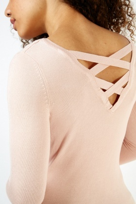 Criss Cross Back Knit Top