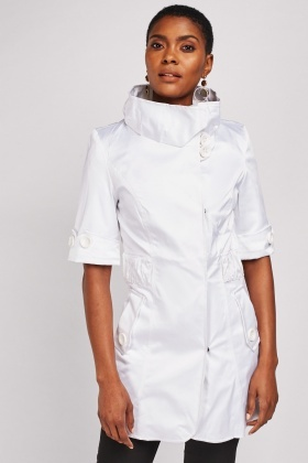 Sateen High Neck Coat