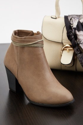 Lacing Insert Ankle Boots