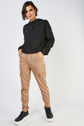 Printed Flap Pocket Side Trousers