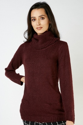 Roll Neck Bobble Textured Jumper