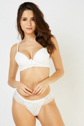 Balconette Lace Bra And Thong Set