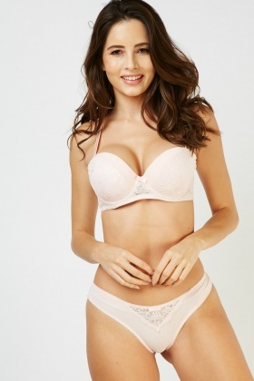 Padded Strapless Bra And Brief Set