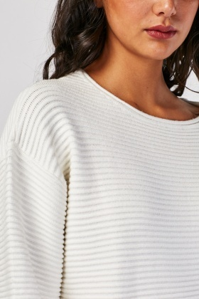 Chunky Ribbed Knit Jumper
