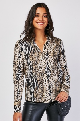 Light Weight Animal Print Shirt