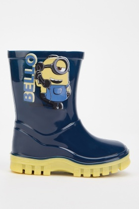 Kids Minions Print Wellies