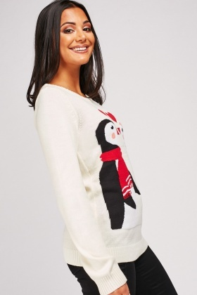 Penguin Couple Christmas Jumper