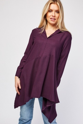 Plain Collarless Top