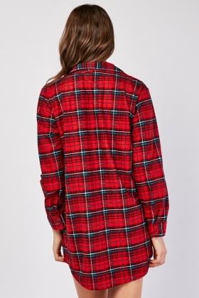 Tartan Night Shirt Dress
