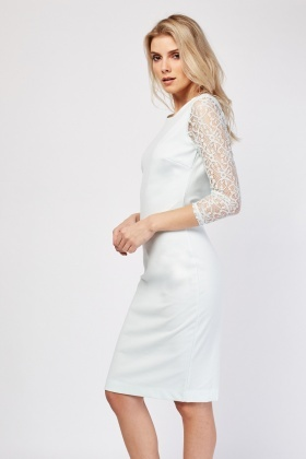 Lace Sleeve Midi Dress