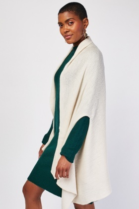 Loose Knit Poncho Style Cardigan