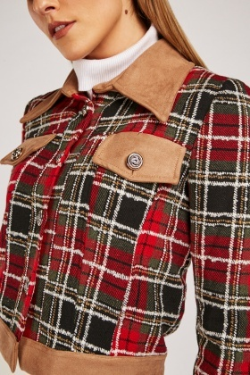 Tartan Tweed Crop Jacket