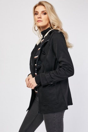 Toggle Front Hooded Jacket