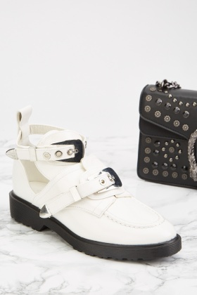 Buckle Front Cut Out Boots