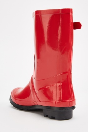 Buckled Side Rubber Wellies