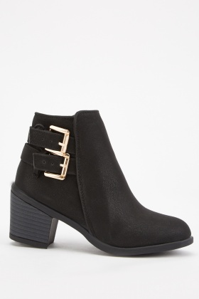 Kids Buckle Side Ankle Boots