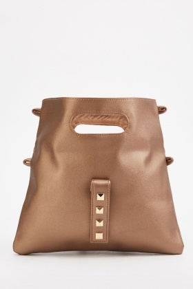 Pack Of 2 Studded Flap Over Bag