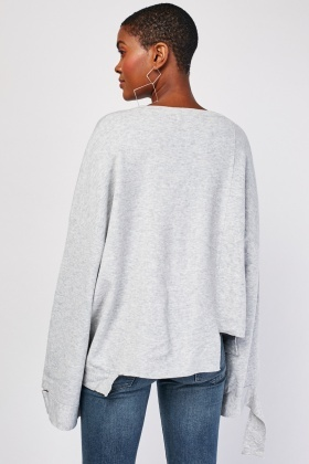 Chunky Uneven Hem Knit Jumper