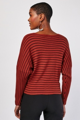 Striped Rib Knitted Sweater