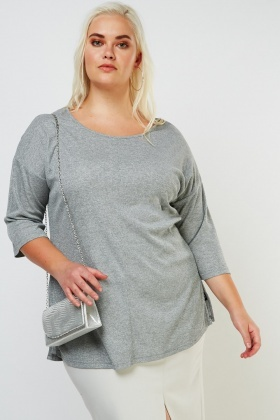 Keyhole Back Lurex Top