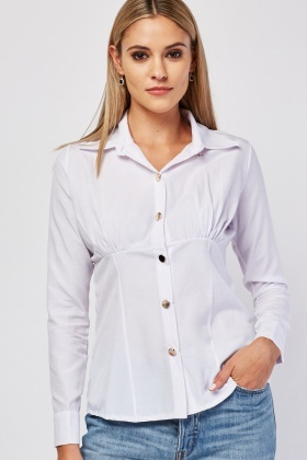 Long Sleeve Structured Shirt
