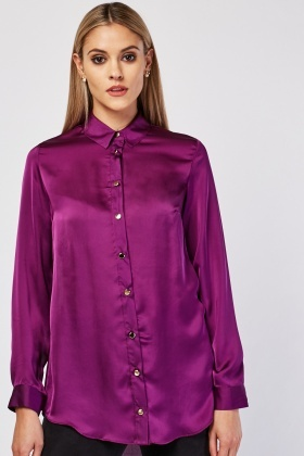 Purple Sateen Blouse