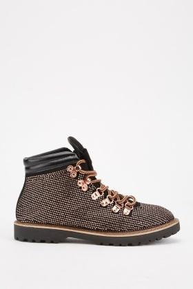 Multi Studded Detail Hiking Boots