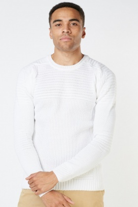 Textured Knit Basic Jumper