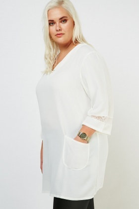 Lace Sleeve Panel Top