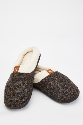 Bobble Knit Slippers
