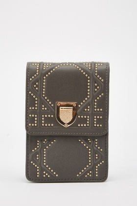 Encrusted Patterned Clutch Bag