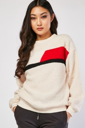 Borg Knit Long Sleeve Jumper