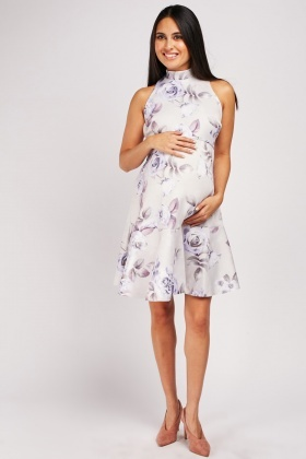 Floral Printed Maternity Wear Dress