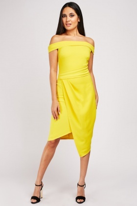 Yellow Midi Tulip Dress