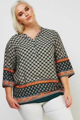 Ethnic Printed Tunic Top